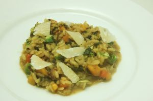 b squash brussel sprt risotto